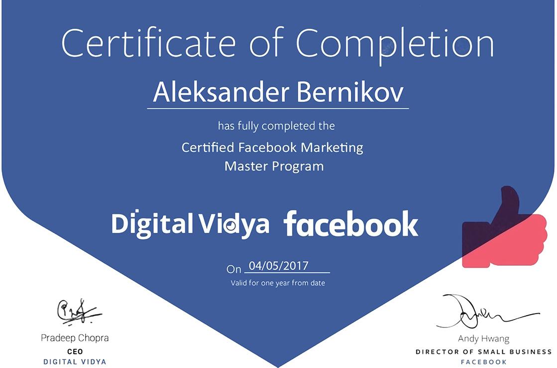 Vidya Certificate